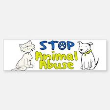Stop Animal Abuse Sticker (Bumper)