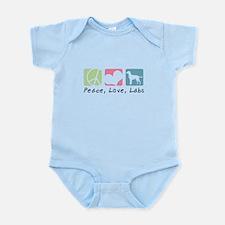 Peace, Love, Labs Infant Bodysuit