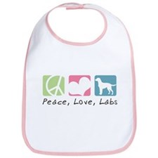 Peace, Love, Labs Bib