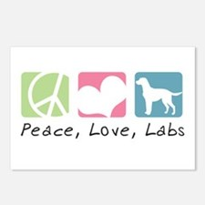 Peace, Love, Labs Postcards (Package of 8)