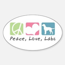 Peace, Love, Labs Decal