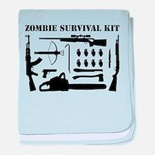 Zombie Survival Kit baby blanket