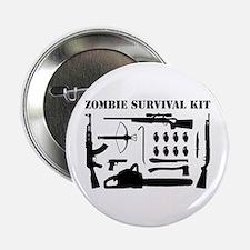 """Zombie Survival Kit 2.25"""" Button"""