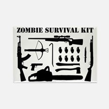 Zombie Survival Kit Rectangle Magnet