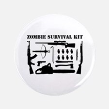 "Zombie Survival Kit 3.5"" Button"