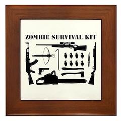 Zombie Survival Kit Framed Tile