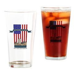 September 11th Ten Years Drinking Glass