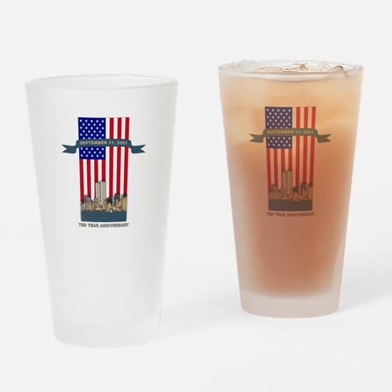September 11th Ten Years Drinking Glass