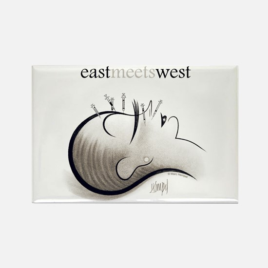 East Meets West Rectangle Magnet