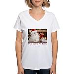 Cookies for Santa Women's V-Neck T-Shirt