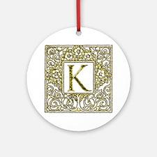 Monogram K Ornament (Round)