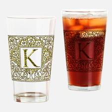 Monogram K Drinking Glass