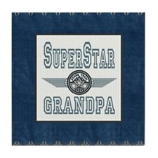 Superstar Grandpa Tile Coaster