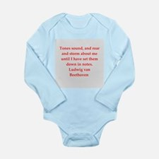 Ludwig van Beethoven Long Sleeve Infant Bodysuit