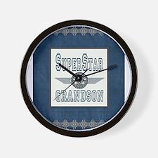 Superstar Grandson Wall Clock
