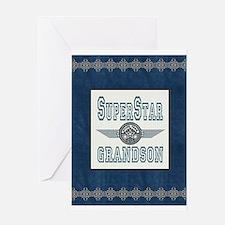 Superstar Grandson Greeting Card