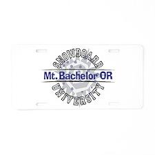 Snowboard Mt. Bachelor OR Aluminum License Plate