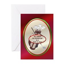 All I Want is a Hole in One Greeting Cards (Pk of
