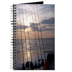 Beach Sunset Fishing Poles Journal