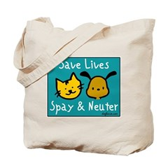 Save Lives Spay & Neuter Tote Bag