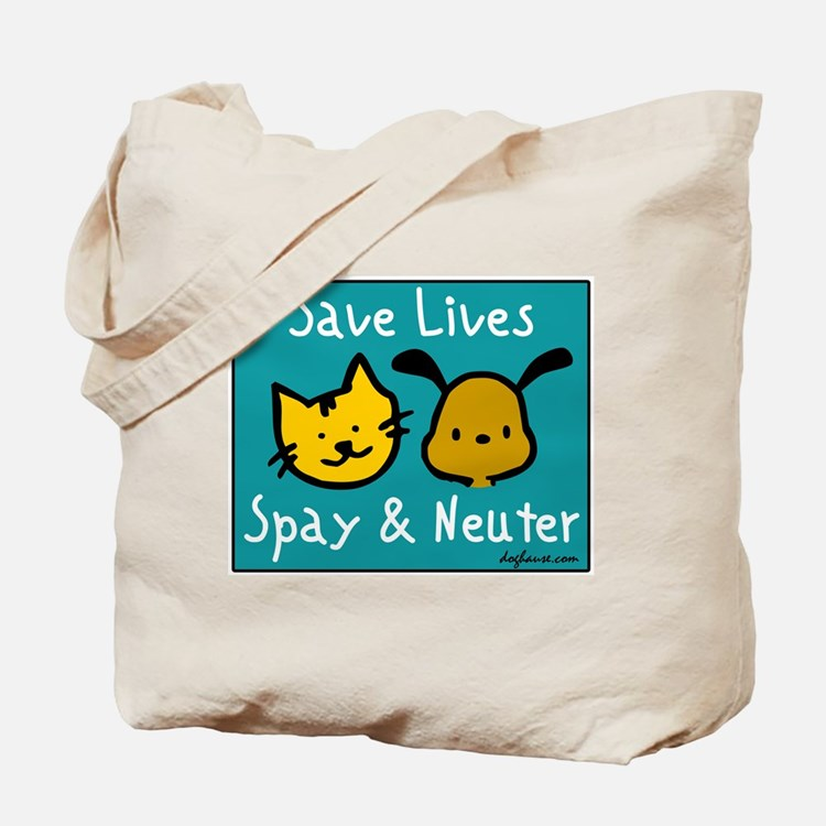 Save Lives Spay & Neuter Tote Bag