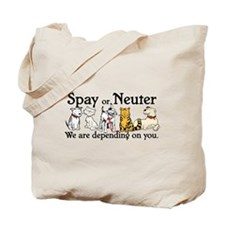 Spay or Neuter - Depending On Tote Bag
