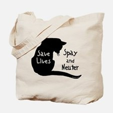 Save Lives (Cat) Tote Bag