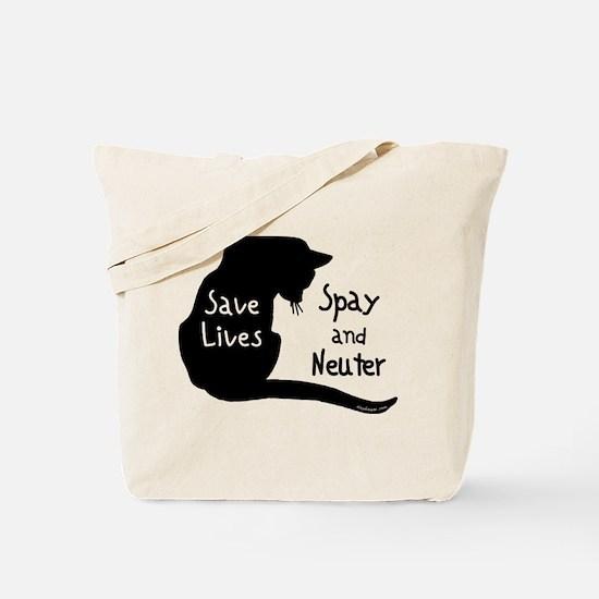 Save Lives (Cat) Tote Bag