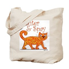 Neuter & Spay (Orange Cat) Tote Bag
