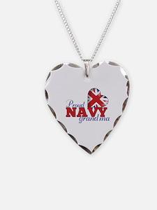 Proud Navy Grandma - Necklace