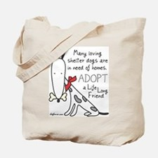 Life Long Friend (Dog) Tote Bag