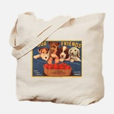 Four Puppy Friends Tote Bag