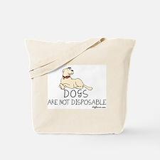 Non-Disposable Dogs Tote Bag