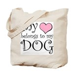 Heart Belongs to Dog Tote Bag