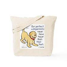 Four Feet (Dog) Tote Bag