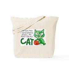 More Time (Cat) Tote Bag