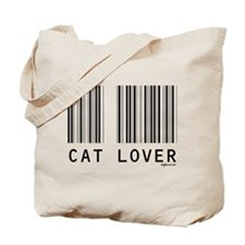 Cat Lover Barcode Tote Bag