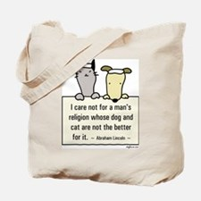 Lincoln's Religion Tote Bag