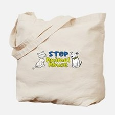 Stop Animal Abuse Tote Bag