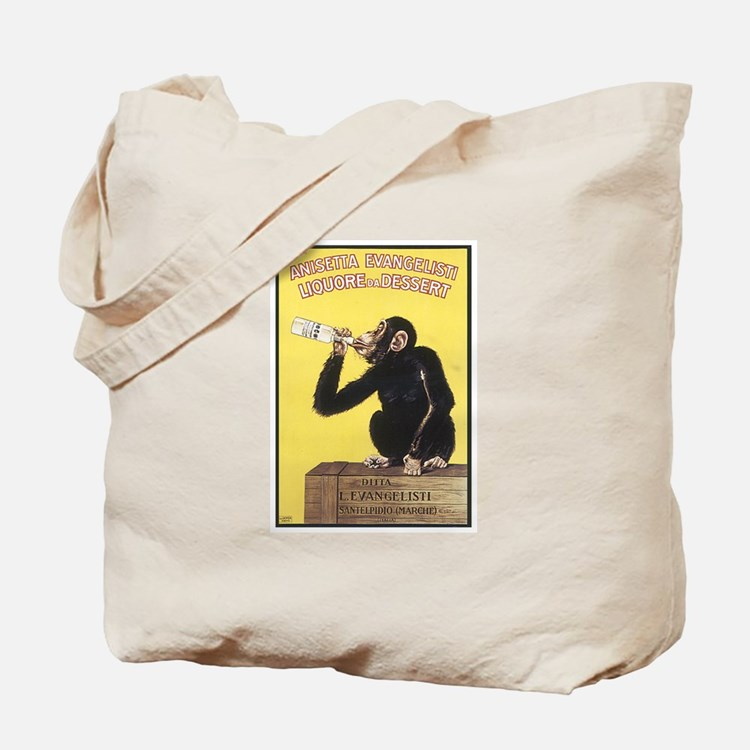 Drinking Monkey Tote Bag