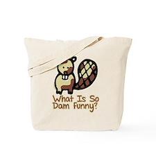 Dam Funny Beaver Tote Bag