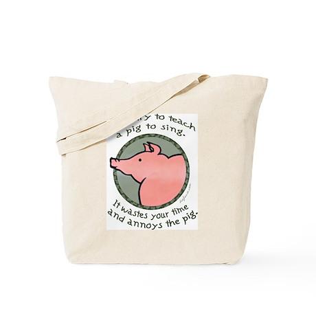 Singing Pig Tote Bag