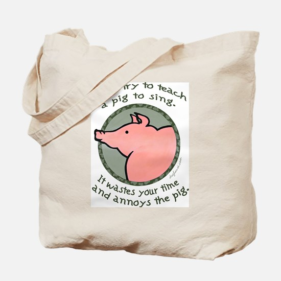 Singing Pig Tote Bag