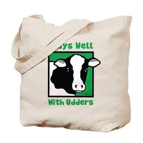 Plays Well With Udders Tote Bag