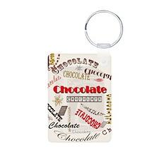 Chocolate Aluminum Photo Keychain