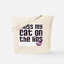 Kiss Cat Lips Tote Bag