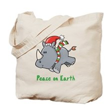 Peace Rhino Tote Bag