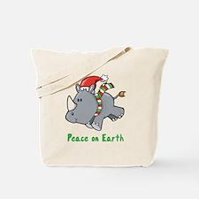 Peace Rhino Tote Bag