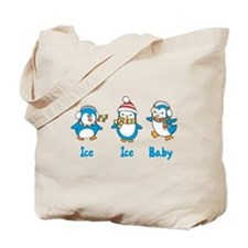 Ice Ice Baby Penguins Tote Bag