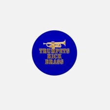 Trumpets Kick Brass Mini Button